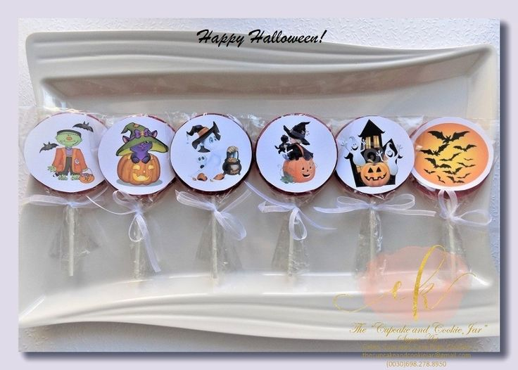 Home made Halloween themed lollipops! Amazing to give out to trick or treaters!!!