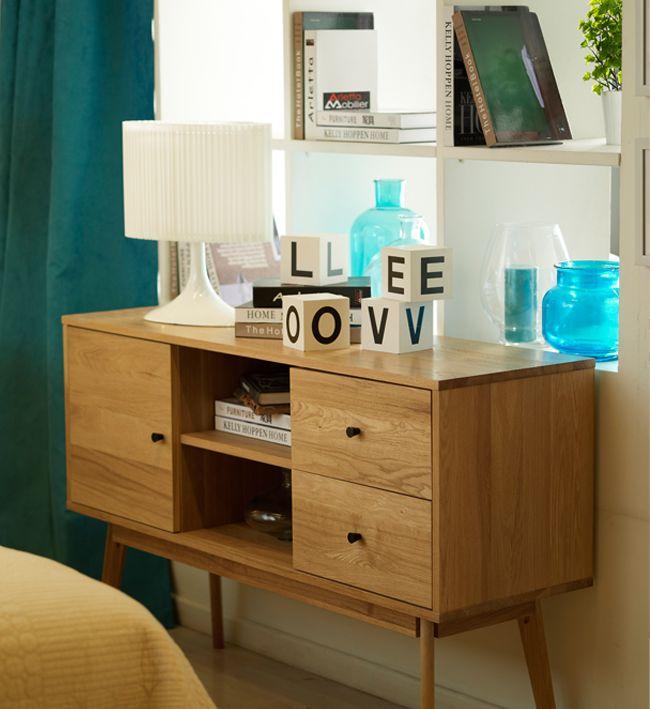 Nada mejor que un #mueble #retro para darle un toque cool a tu #dormitorio. #Homy.