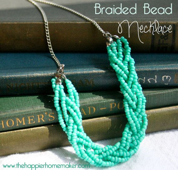 Braided Bead Necklace Tutorial and Giveaway from The Happier Homemaker