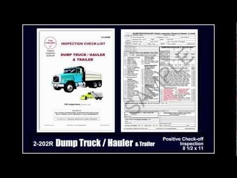 """Dump Truck / Hauler Inspection Checklist - The ""CHECKER""® How-To Guide Volume 3"" Embedded image permalink https://www.youtube.com/watch?v=162Hc2hMZyU&index=47&list=UUFOXQFpRcuX3e0w6qsrmvkQ"