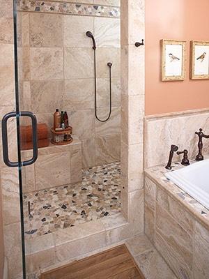 love the seat in the shower | bathroom design, bath