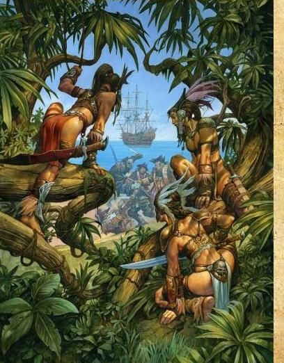 Army Pin Up Girl Wallpaper Warhammer Amazons Jungle Art New Fantasy Welcome To