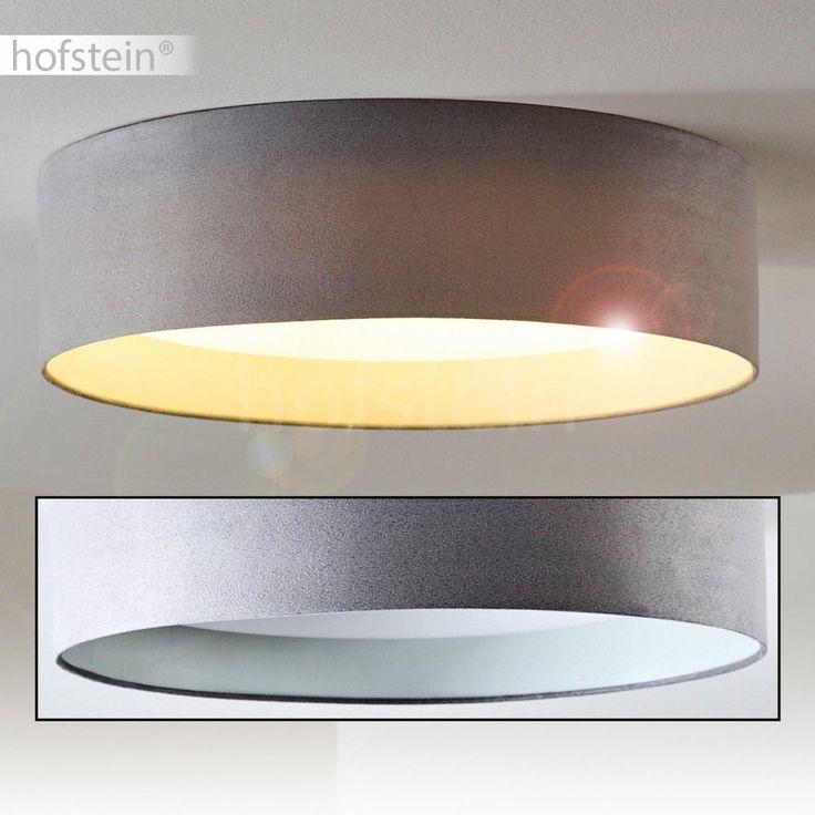 Deckenlampe LED Design Wohn Zimmer Lampen Decken Leuchten Stoff Grau 24 Watt