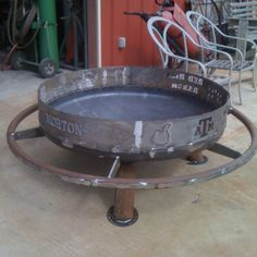 3ft heavy duty custom family name firepit with foot rail. Built to your specs ~ $750. ~JDH Iron Designs www.starsovertexas.com email me: jimmydon@starsovertexas.com or call or text 254 749 2925