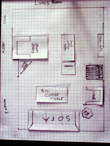 Picture of Arrange Furniture More Easily: Create a scale drawing with movable furniture!