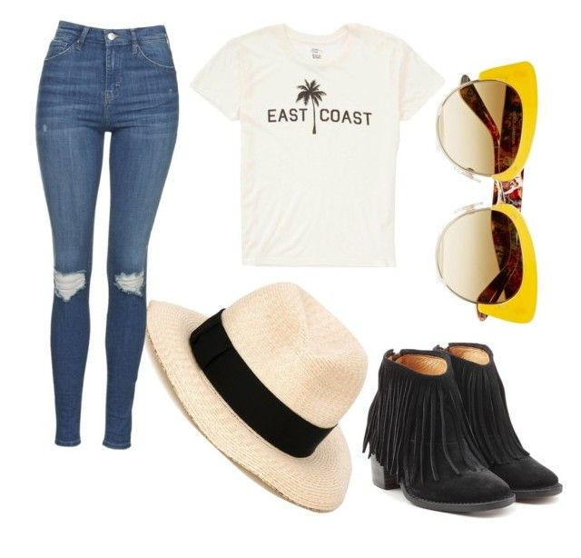 """""""sun"""" by cosmina-styles-alina on Polyvore featuring Billabong, Eugenia Kim, Topshop, Fiorentini + Baker and Dolce&Gabbana"""