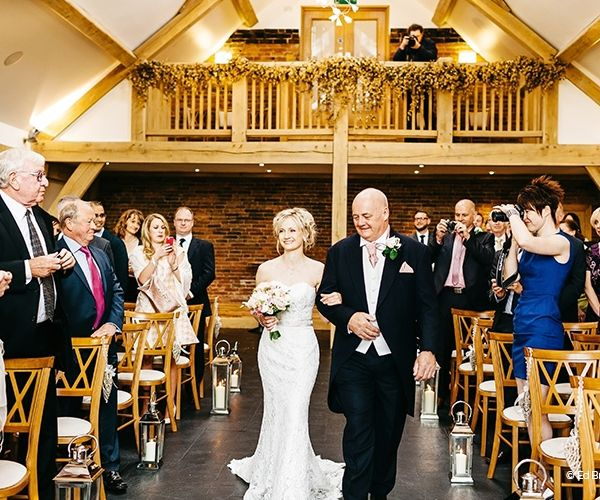 Wedding Ceremony At Mythe Barn Venue In Leicestershire