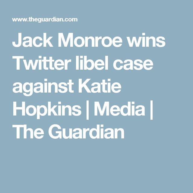 Jack Monroe wins Twitter libel case against Katie Hopkins | Media | The Guardian