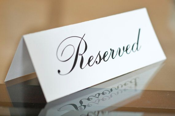 Reserved signs for wedding or party Set of by freshlovecreations, $4.50