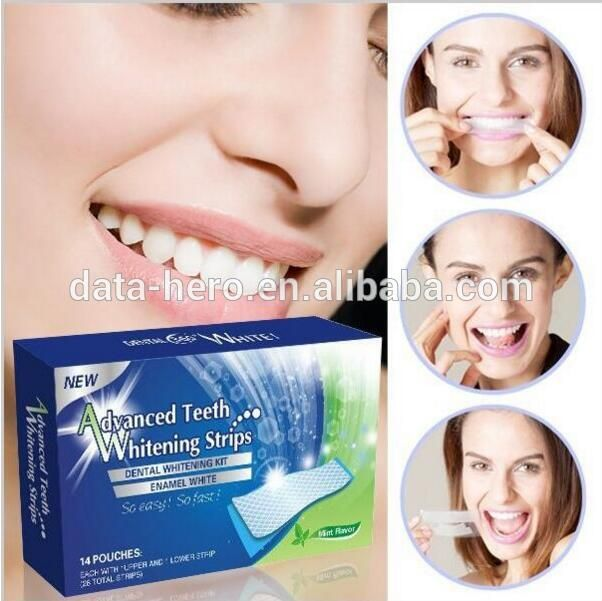 CE & FDA approved Advanced 3D teeth whitening gel non peroxide teeth whitening strips