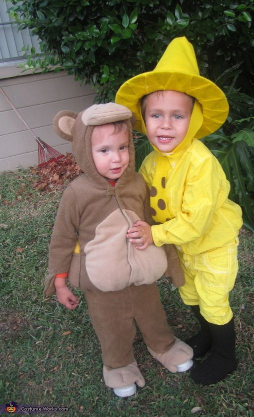 Curious George and The Man in the Yellow Hat - Halloween Costume Contest via @costumeworks