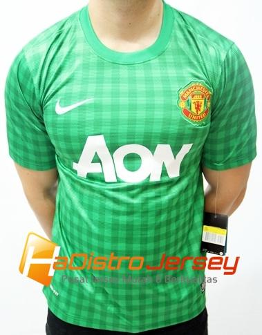 Toko Jersey Bola HADISTROJERSEY menjual READY STOK Jersey Grade Ori Manchester United GK Hijau $15 http://goo.gl/0gmHV