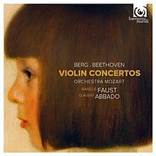 Isabelle Faust is an amazing German violinist. Her Beethoven is definitive--I've never heard a better recording. The Berg, though, sounds like you're being hit on the head with a hammer. Berg's fault, not Faust's.