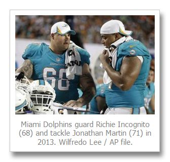Texts shed light on relationship between Miami Dolphins' Jonathan Martin, Richie Incognito | Steve Rothaus' Gay South Florida