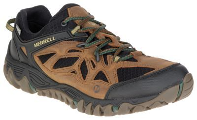 Merrell All Out Blaze Ventilator Waterproof Hiking Shoes for Men - Merrell Tan - 10.5M