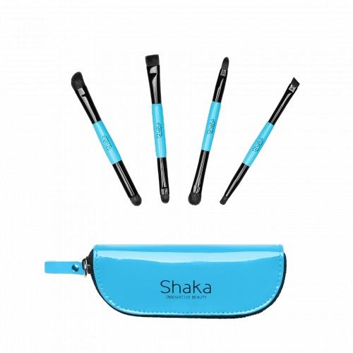 Idee regalo per la #FestaDellaMamma: Kit 4 pennelli doppi @Shaka Innovative Beauty