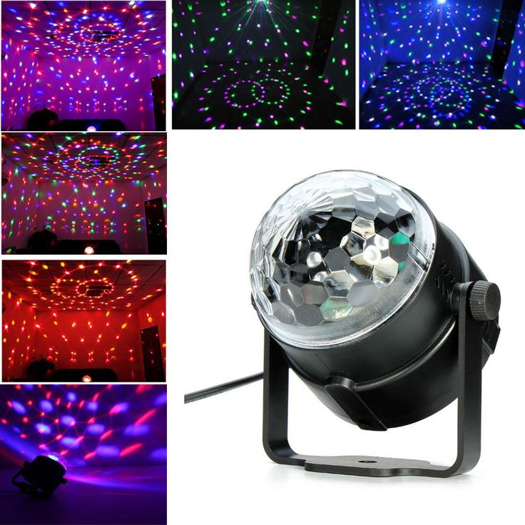 Best Promotion Mini RGB LED Projector DJ Light dance Disco Crystal Magic ball ba…