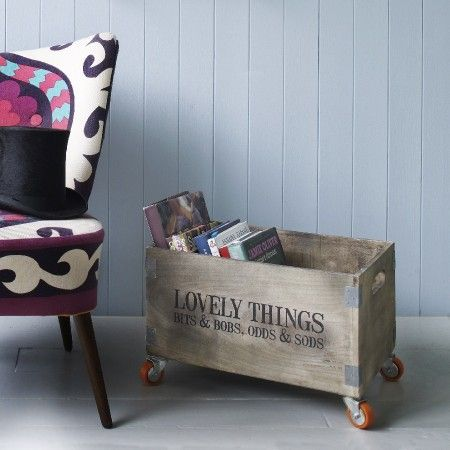 Lovely box for lovely things...A rustic storage box with a charming message. A simple product  that also brings so much charm to a room. Looks great with the bold furniture. #rusticproducts www.rockmyroost.co.uk #lovelythingsbox