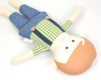 custom boy doll custom rag doll personalized by CleoAndPoppy