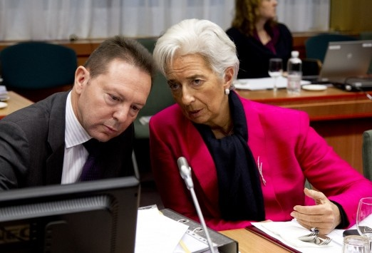 Ch. Lagard & Stournaras, Eurogroup http://www.guardian.co.uk/business/2012/nov/26/eurozone-crisis-greece-aid-eurogroup-meeting