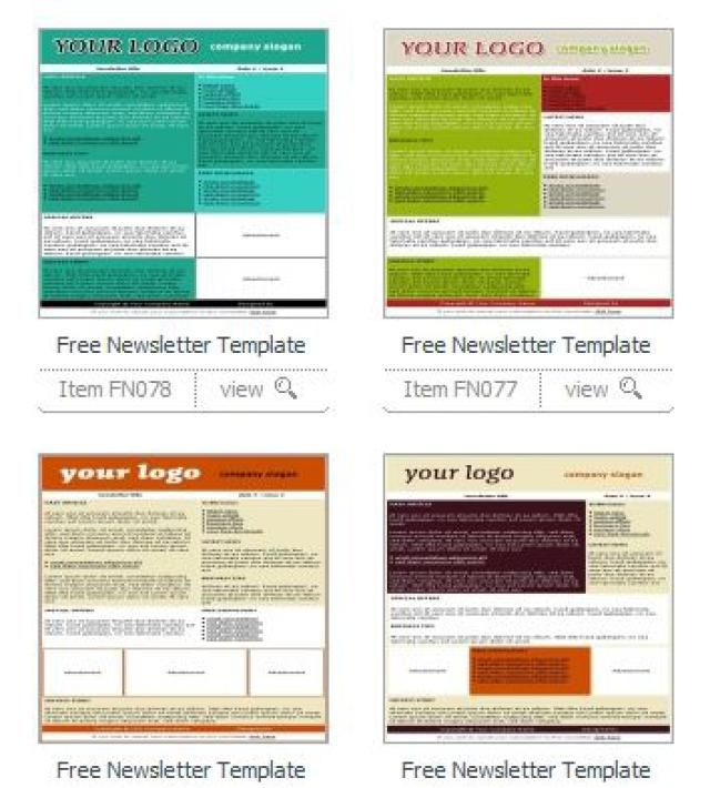 Great, Free Newsletter Templates for Print: TemplatesBox Free Newsletter Templates
