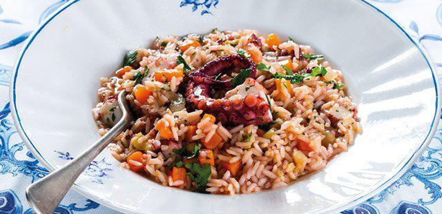 Ośmiornica z ryżem