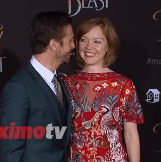 """""Dan Stevens and Susie Hariet ""Beauty and the Beast"" World Premiere Red Carpet  "" "" 2017.."