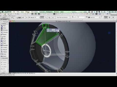 ArchiCAD Potenza nello spazio.    Classics Remodeled in ArchiCAD - The Star Wars Tie Fighter [extended cut]