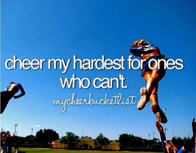 Cheer bucket list
