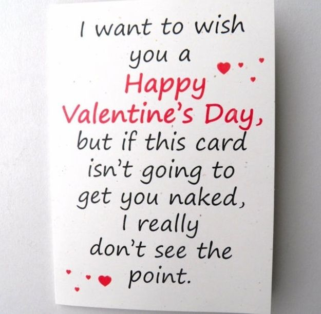 Isn't this pretty much the only reason guys give anything to girls on Valentine's day?