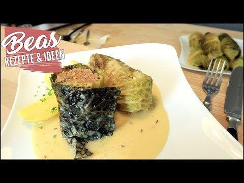 Wirsing-Rouladen Rezept   Klassisch mit Hackfleisch gefüllt - Herzhafte Krautrouladen kochen - YouTube