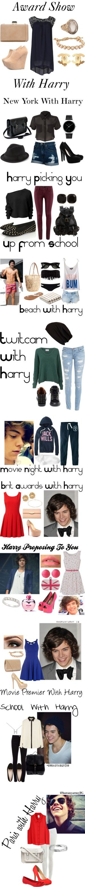 """Directioner Outfits - Harry Styles"" by bananaaaa ❤ liked on Polyvore"