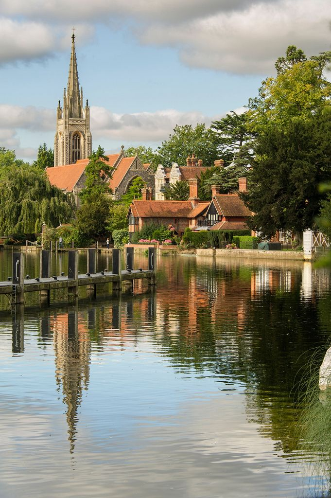 River Thames At Marlow in Buckinghamshire, England