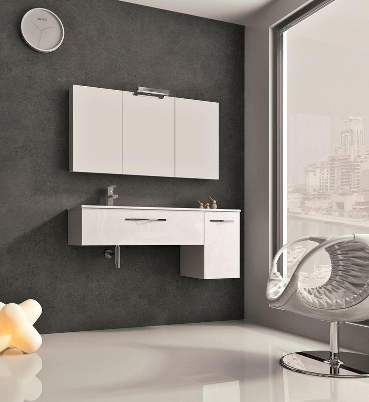 Play white. #elita #meble #lazienka #play #furniture #bathroom
