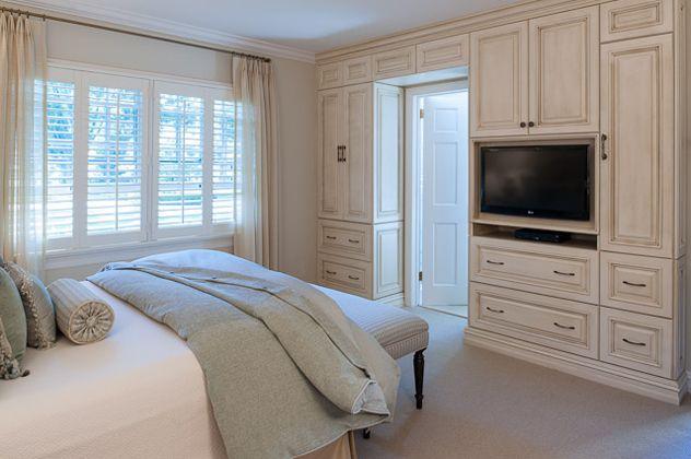 Custom Built In Bedroom Wall Unit For Helene Goodman
