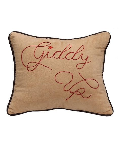 Western Throw Pillows For Couch : Giddy Up Decorative Pillow Western Living Pinterest Decorative pillows, Pillows and Couch