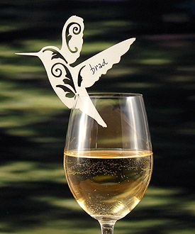 hummingbird place cards as low as $0.54 wedding place cards, wedding table decorations