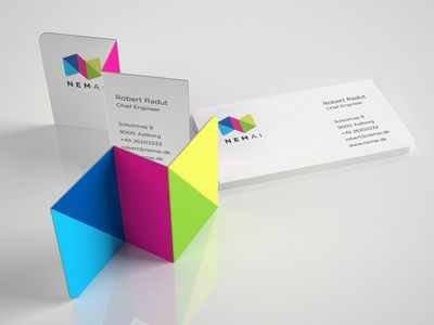 48 best logoholik corporate visual identity and print collateral nemai easyai folded business card reheart Gallery