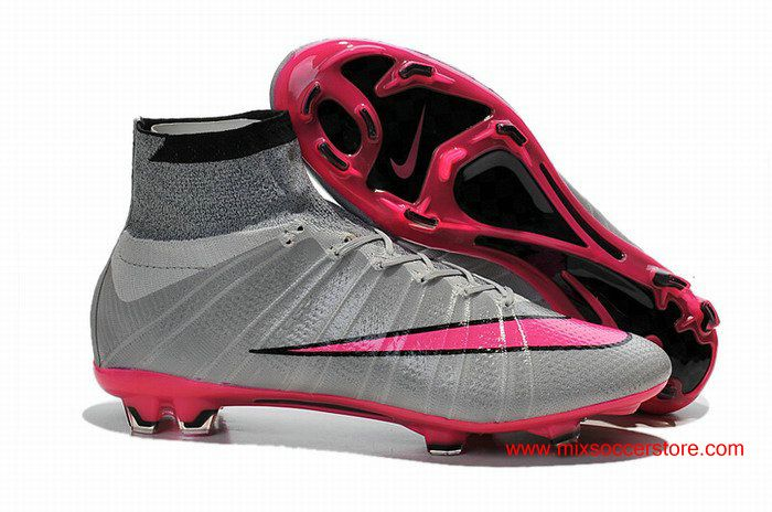 Nike Mercurial Superfly FG Wolf Grey Hyper Pink Soccer Cleat
