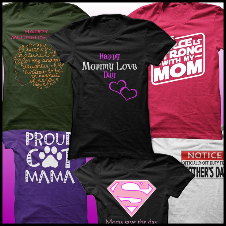 Mother's Day shirt collection ! Shop now or REPIN for later :) #MothersDay #mothers #moms #mommy #kids #parenting