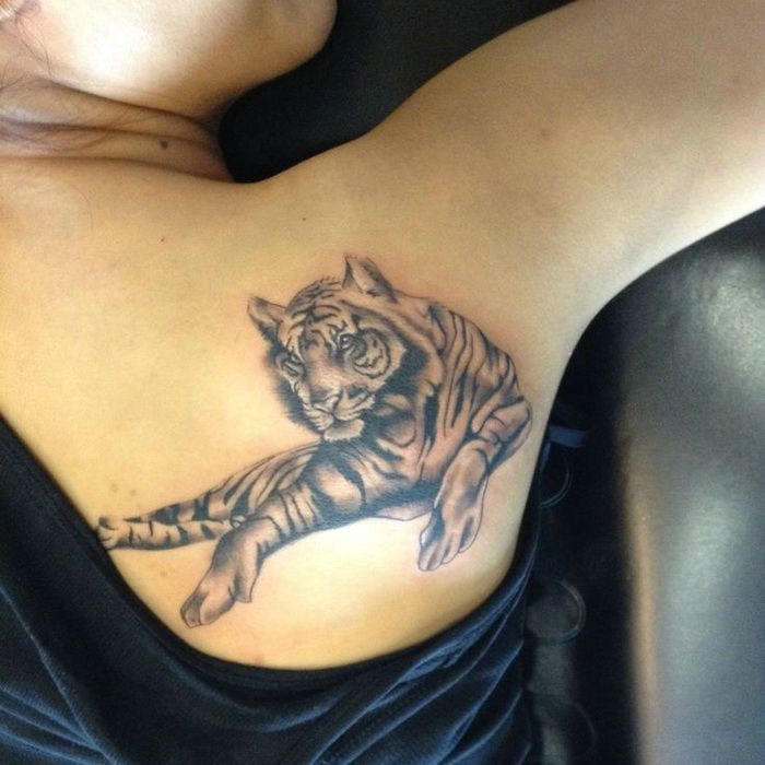 297 best tattoo designs images on pinterest tattoo ideas for Tiger tattoos for females