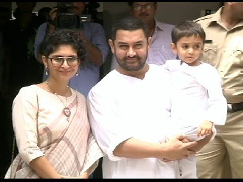 Aamir Khan & Kiran Rao celebrates EID with their younger son Azad.