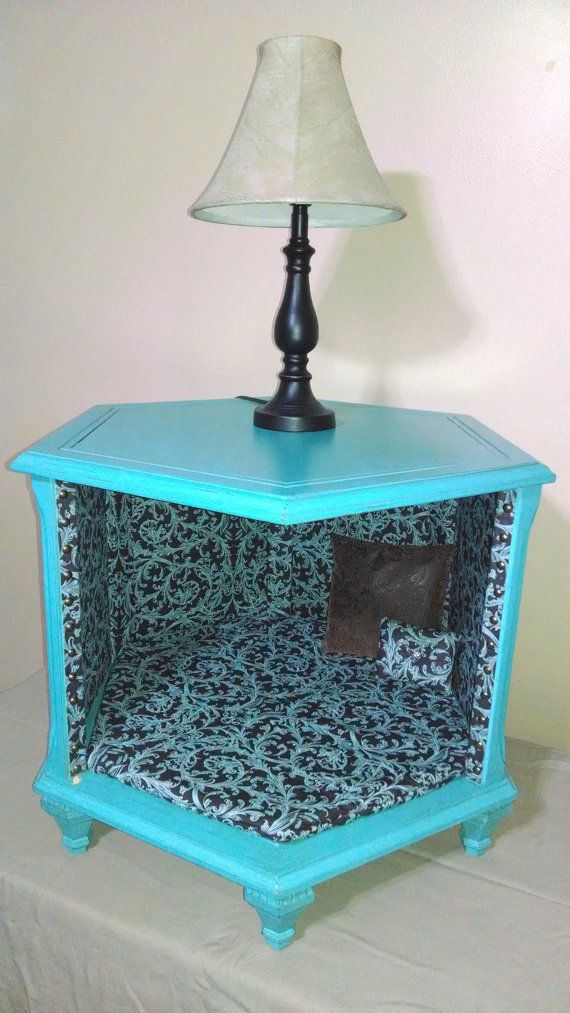 Savanna Interior Diy Mini Pond: Re-purposed Antique Octagon End Table Turned Into An