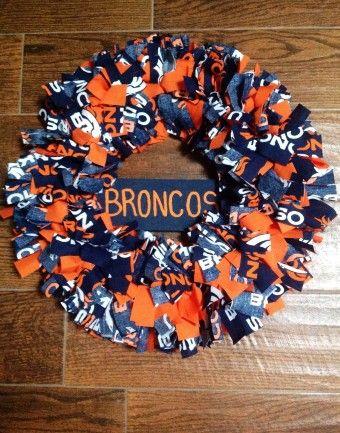 Denver BRONCOS Fabric Wreath NFL Peyton - 2015 super bowl everything else - do you like 2016 super bowl Denver Broncos valentine door mesh wreath by xueerlove