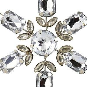 Lot de 2 étoiles design en strass à suspendre en hiver - Objets décoratifs pour noël - Fait main en Inde: Amazon.fr: Cuisine & Maison