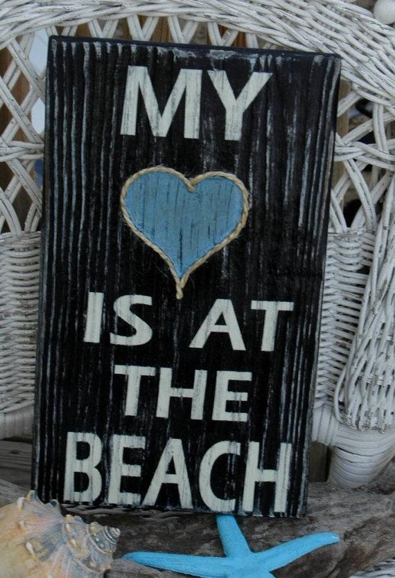 wood sign - beach decor - coastal - nautical - distressed - typography - nautisch - strand