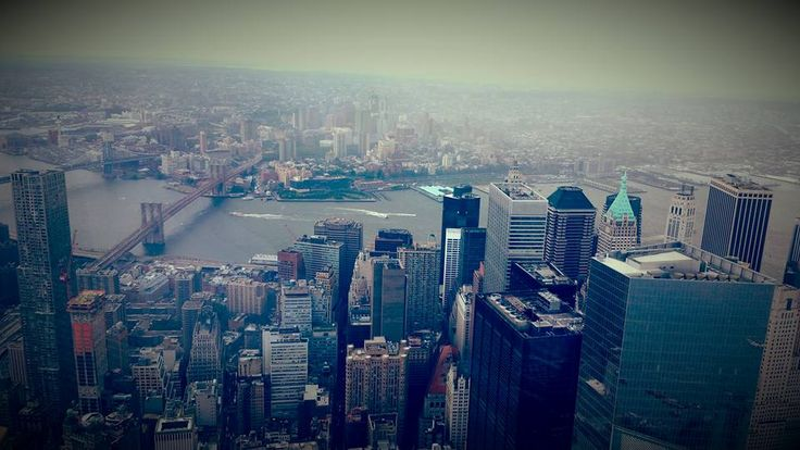 pic by my son <3  NYC IS BREATHTAKING SEEN FROM THE 102nd FLOOR! Def a must see! Make sure you buy tickets online ahead of time - if you go on the weekend :) — at One World Observatory - One World Trade Center 2015