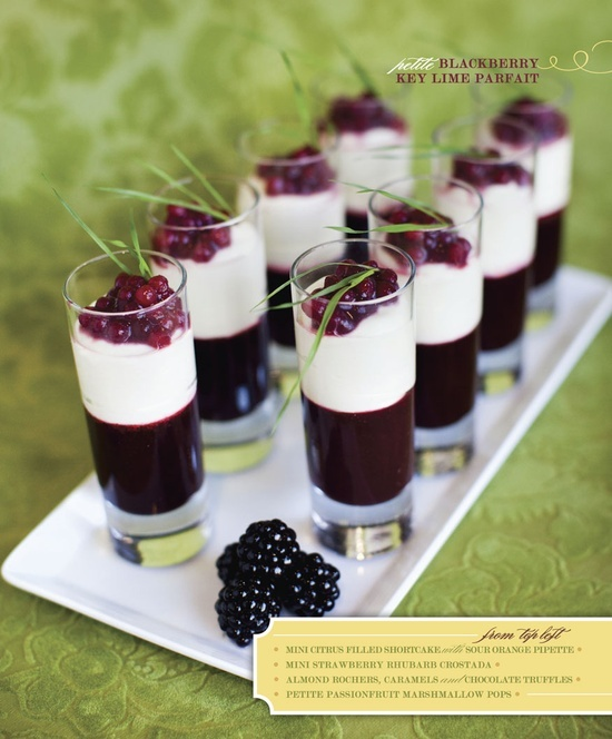 Black Raspberry Key Lime Pie Parfait - From http://pinterest.com/pin ...