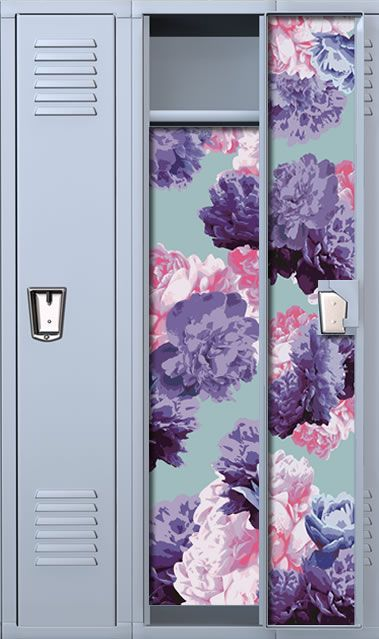 Peony Chic: Violet School Locker Wallpaper