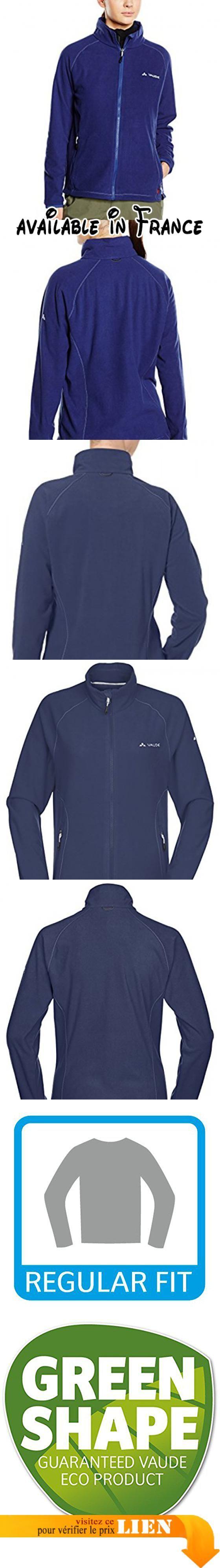 Vaude - Smaland Veste - Femme - Bleu (sailor blue) - Taille: 38 (Taille Fabricant: S). 100 % polaire.. Fermeture à glissière à l'avant.. 2 poches avant.. Col relevable.. Cordon de serrage à la taille ajustable par l'intérieur des poches. #Sports #SPORTING_GOODS